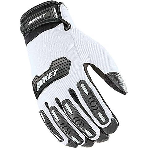 Joe Rocket Velocity 2.0 Men's Textile Street Motorcycle Gloves - White/Black / X-Large - Textile Motorcycle Gloves
