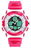 Kids Digital Watch Girls Sports Waterproof Wrist Watches with Alarm Stopwatch for Youth Childrens (red)