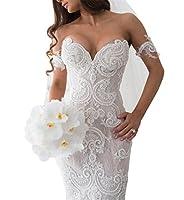 Tsbridal Lace Mermaid Wedding Dresses 2018 Sweetheart Wedding Gowns
