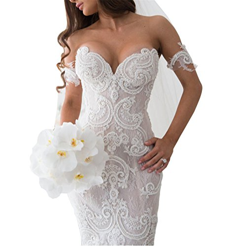 Tsbridal Lace Mermaid Wedding Dresses Sweetheart Wedding Gowns