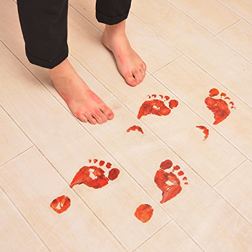 Professional Halloween Decorations (Scary Bloody Footprints Floor Decals Clings Stickers for Halloween Decorations Bathroom Outdoor- 8