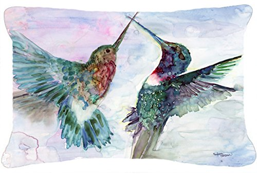 Caroline's Treasures Hummingbird Combat Fabric Decorative Pillow, 12