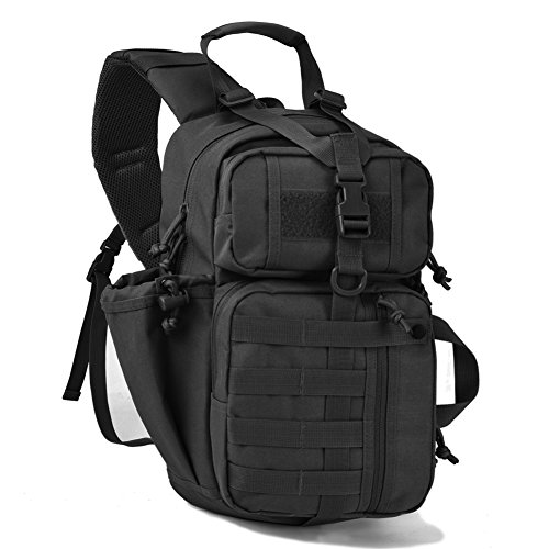 Tactical Assault Sling Pack Military Molle Hunting Range Shoulder Sling Bug Out Bag Backpack Daypack