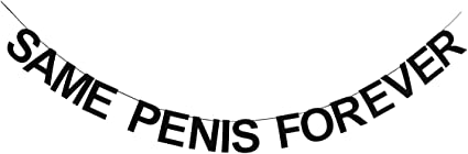 Hen party-Same Penis Forever-Cake Topper DOUBLE THICK /& DOUBLE SIDED Glitter