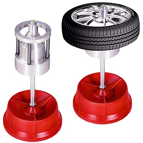 Goplus Pro Portable Hubs Wheel Balancer W/Bubble Level Heavy Duty Rim Tire Cars Truck (Best Tire Balancing Machine)