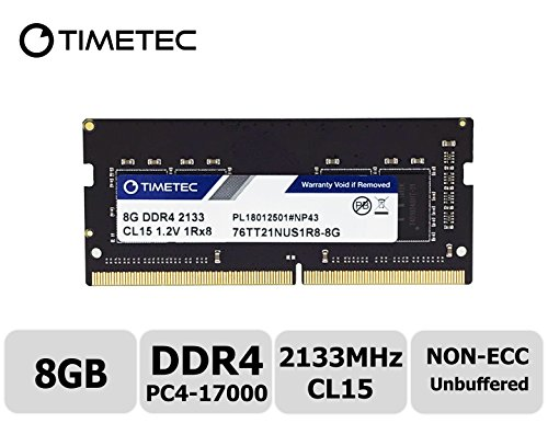 Timetec Hynix IC 8GB DDR4 2400MHz PC4-19200 Unbuffered Non-ECC 1.2V CL16 1Rx8 Single Rank 260 Pin SODIMM Laptop Notebook Computer Memory RAM Module Upgrade (8GB) (Upgrades Laptop Computer Memory)