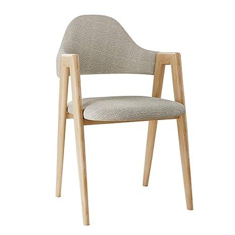 Amazon.com: Cómoda silla de hierro simple para salón, sillón ...