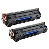 CE285A Toner cartridge black 2Pack compatible for HP 1102, M1212, M1217, M1132, M1214, and Canon, CRG325/725/925, CRG312/712/912 Series printers by Well shop