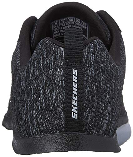 Scarpe Flex 0 black Skechers Donna 2 white Sportive Outdoor Appeal Nero nIZwxAwqU