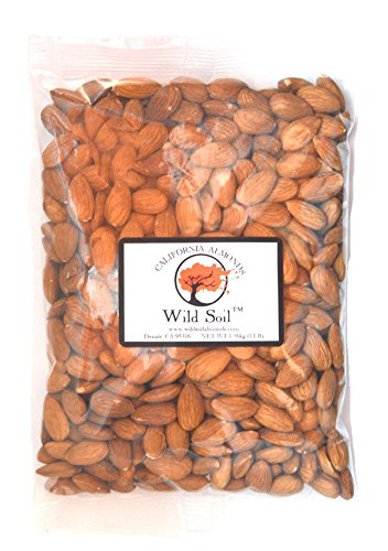 Wild Soil Almonds - Distinct and Superior to Organic, Steam Pasteurized, Raw 1LB Bag