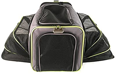 Pet Carrier for Dogs & Cats - Airline Approved Quality Expandable Soft Animal Carriers - Portable Soft-Sided Air Travel Bag - Best for Small or Medium Dog and Cat - Fits Under Front Airplane Seat