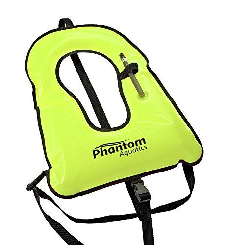 Phantom Aquatics Snorkel - Chaleco para adulto, Amarillo