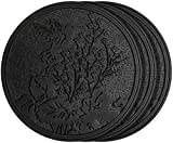 HF by LT Rubber Hummingbird Garden Stepping Stone, Black, 11-3/4'', Set of 3