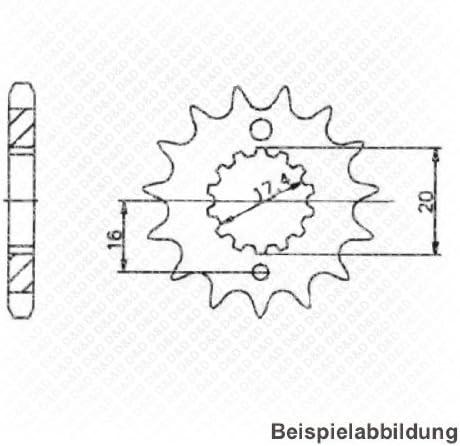 MZ RT 125 offen mit Clipschloss Kettensatz DID X-Ring Bj VX G/&B 2000-2008