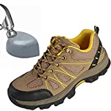 SITAILE Women Steel Toe Safety Shoes Men Breathable Fashion Work Industrial and Construction Lightweight Sneakers