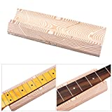 Andoer Musical Instrument Luthiers Tool Guitar Neck Fingerboard Support U-block Foam Wood Grain
