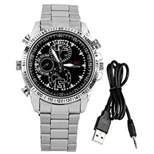Takestop® Reloj con Micro Camera espía Spy 8 GB integrada cámara cámara espía USB 2.0 HD MP3: Amazon.es: Electrónica