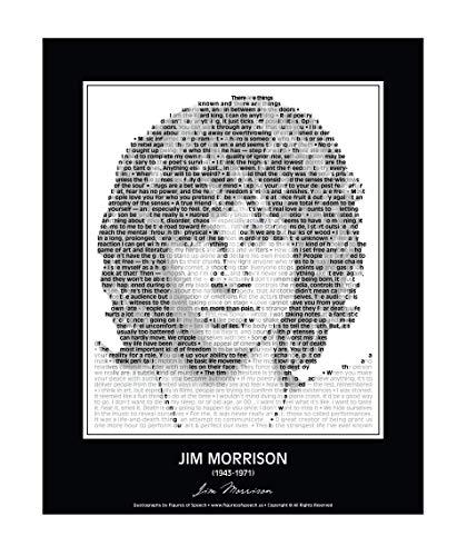 Jim Morrison Portrait - Original Jim Morrison Poster in his own words. Jim Morrison Print made of Jim Morrison Quotes! Wall Art. Home Decor. Picture. 24