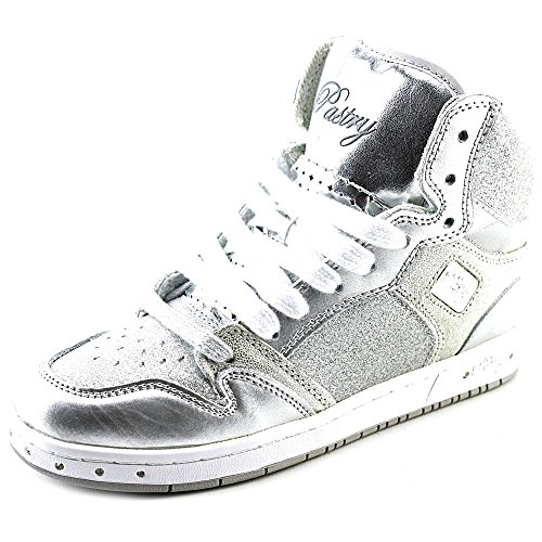 Pastry Glam Pie Glitter Dance Sneakers, Silver, Youth/Size 13 (Pie Glam Pastry)