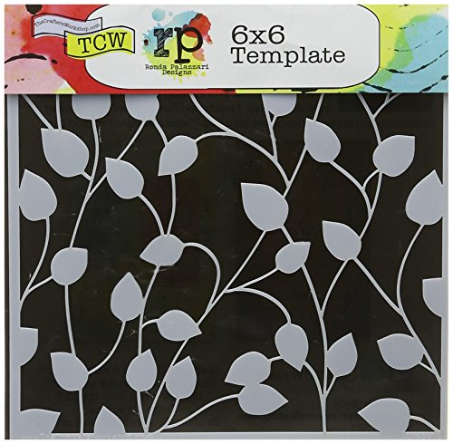CRAFTERS WORKSHOP TCW6X6-391 Template, 6 by 6-Inch, Climbing Vine]()