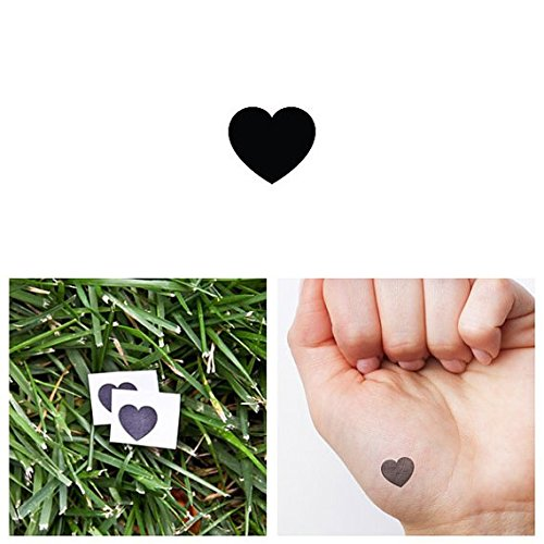 Tattify Tiny Heart Temporary Tattoo - It's simple (Set of 2) - Other Styles Available - Fashionable Temporary Tattoos