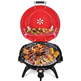 Best Electric Grills - Techwood Indoor/Outdoor Electric BBQ Grill-Adjustable Temperature Control-18inch Round Review