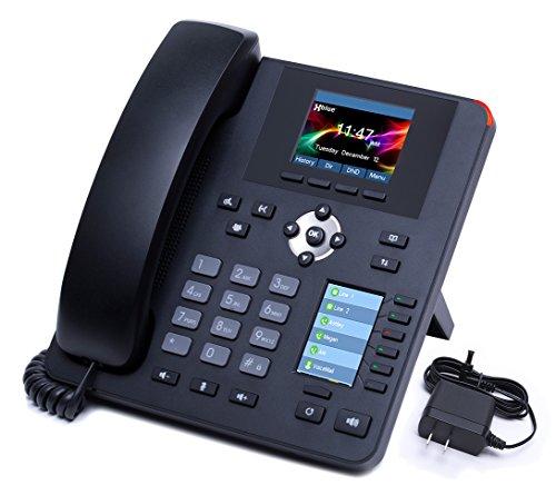 XBLUE IP7g Enterprise-Grade Gigabit IP Phone with Separate Main & User Programmable Color Displays & Power Supply