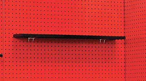 Steel Pegboard Shelf, Hanging Mounting Type, Black, Finish: Textured Powder Coated