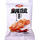 卫龙 亲嘴豆皮 豆A 川香麻辣 Wei Long Kiss Burn snack spicy Flavored 18g (Pack of 30)