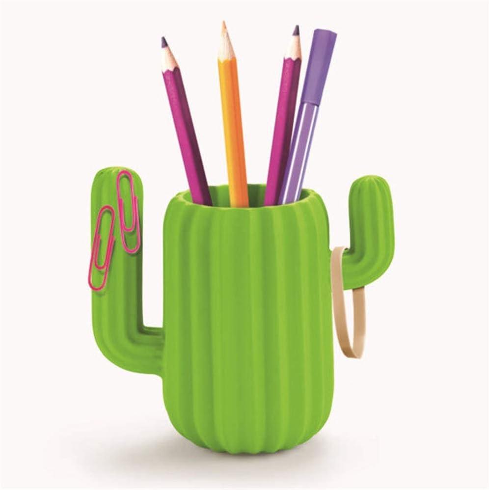 for Desk Office Pen Organizer Limaomao Pen Holder Multifunctional Cactus Pen Holder Creative Student Office Storage Tank Storage Box with Magnetic Desktop Organizer Green