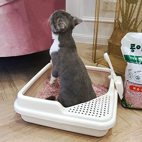 Pet Supplies Toilet Filter Charcoal Filter Deep, Cat Toilet Spacious Interior with Scoop, Cat Litter Boxes Creative Square Shape, Dog Litter Boxes Large for Quick and Easy Cleaning