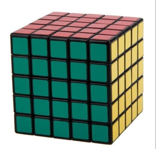 New ShengShou 5x5x5 Speed Ultra-smooth Magic Cube Puzzle Twist 5x5 Black Xmas from New Unbrand