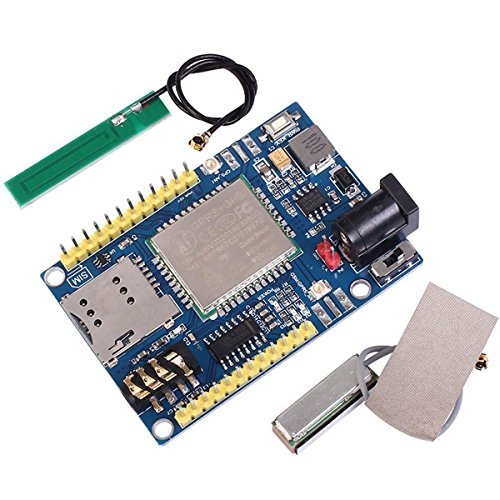 MakerFocus A7 GSM GPRS GPS Module 3 in 1 Module Quad Band GSM/GPRS IPEX Antenna DC 5-9V Support Voice Short Message for Arduino STM32 51 Microcontroller MCU ()