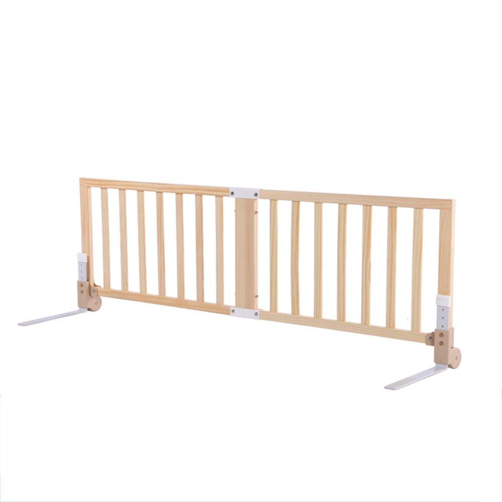 ZR- フェンス\ 子供用ベッド 無垢材 倍 ベビーフェンス ベッドサイド 落下 バッフル 大きなレール ユニバーサル 120\150\180\200cm (サイズ さいず : 180cm-D) 180cm-D  B07DPCQCVM