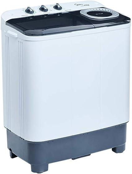 Midea MLTT11M2NUBW - Lavadora Semiautomática 2 Tinas 11 kg Lavado 7 8 kg Centrifugado Color Blanco