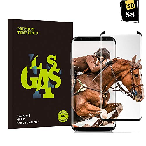 Galaxy S8 Panzerglas Schutzfolie, Guanzer 3D Hohe Qualität Gehärteter Displayschutzfolie [HD klar] [Anti Fingerabdruck] [Anti-Kratzen] [Case- Friendly] [Einfache Installation] Gehärtetes Glas 3D Displayschutzfolie für Samsung Galaxy S8