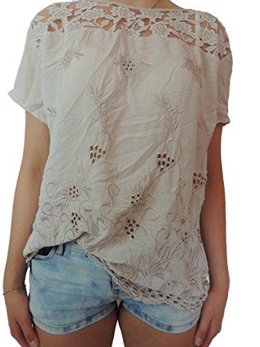 Nowingline - Camisas - para mujer Cremefarbend