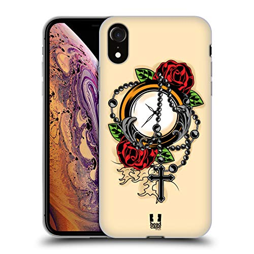 - Head Case Designs Rosary Time Old School Tattoos Soft Gel Case Compatible for iPhone XR
