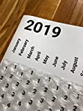 Large 2019 Bubble Wrap Poster Sized Wall Calendar