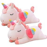 BESPORTBLE 2pcs Huggable Animal Pillow Soft Stuffed Cartoon Unicorn Horse Doll Toy Xmas Sofa Chair Bed Cushion Decor for…
