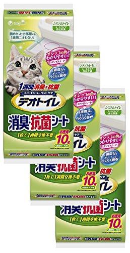 Deo toilet 1 week deodorant · Antibacterial sheet 10 sheets × 3 pieces