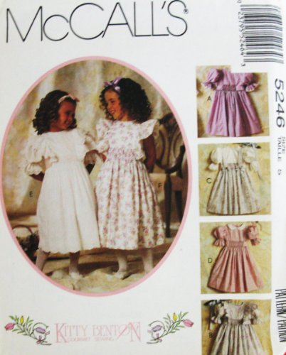 McCall's Pattern 5246 Children's and Girl's Dress by Kitty Benton, Size 5 (Breast 24) ()