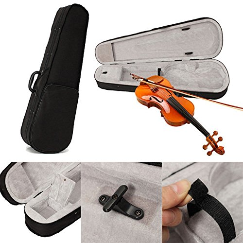 Acoustic Triangle (FunPromotionsToy Black Cloth Fluff 4/4 Triangle Violin Case Bag For Full Size Violin Acoustic)