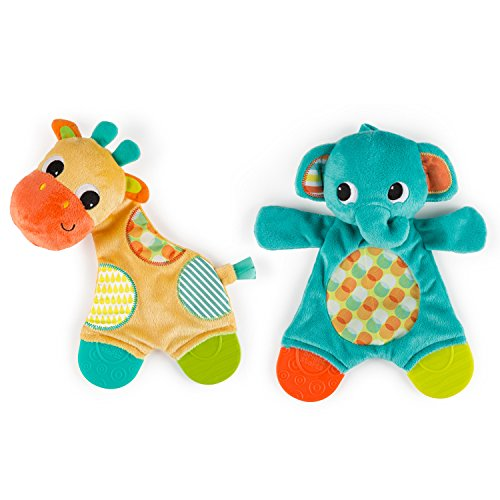 Bright Starts Snuggle Teether (each sold (Elephant Baby Toy)