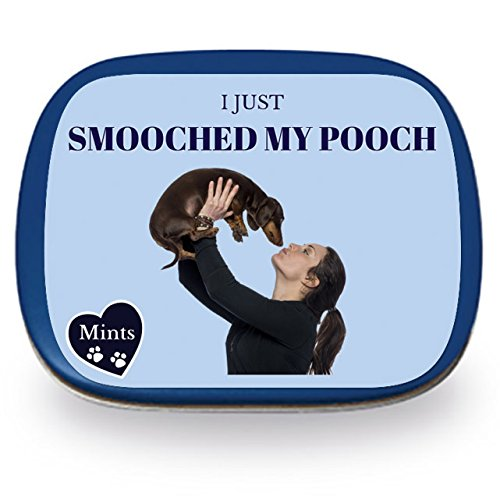 I Just Smooched My Pooch Mints – Funny Gift for Dog Lovers Crazy Dog Person Gifts Funny Mint Tins Stocking Stuffers for Dog People Wintergreen Mints Kissed My Dog Mints Dachshund Gifts ()