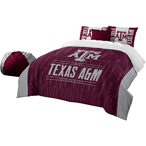 The Northwest Company Officially Licensed NCAA Texas A&M Aggies Modern Take Full/Queen Comforter and 2 Sham Set