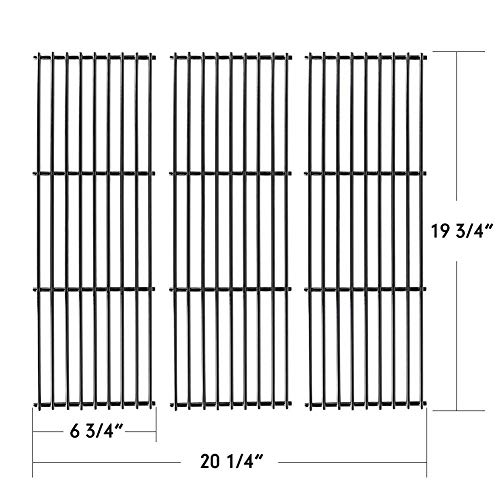 X Home Grill Grate 19 inch Grill Replacement Parts for Chargriller 3001, 3008, 3030, 4000, 5050, 5252, King Griller 3008 5252, 3-Pack Porcelain Steel Cooking Grid Barbeque Grates (19 3/4