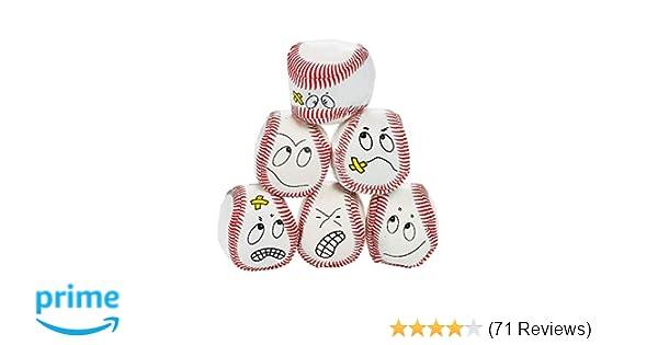 12 silly face Vinyl Baseball Kick Balls Balls, Frisbees & Boomerangs