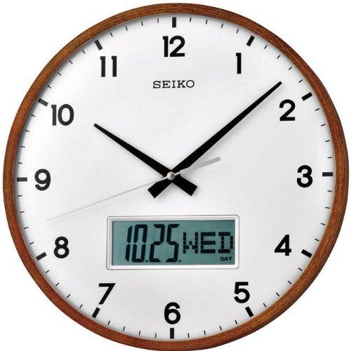 Seiko QXL008B - Reloj digital y analógico de pared de cuarzo: Amazon.es: Relojes