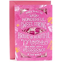 Hallmark Mother's Day Greeting Card with Scarf (Pink Abstract Benefiting Susan G. Komen and Breast Cancer Research)